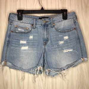 Aeropostale Tomboy Ripped Distressed Jean Shorts